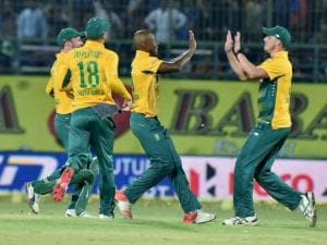 South African players celebrate