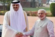 Qatar's Emir Tamim bin Hamad Al Thani visits India