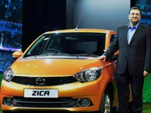 Cyrus Mistry at the launch of Tata Motors' new car Zica