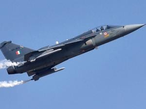 Tejas (LCA) prepares to fly during the inauguration of the Aero India 2015