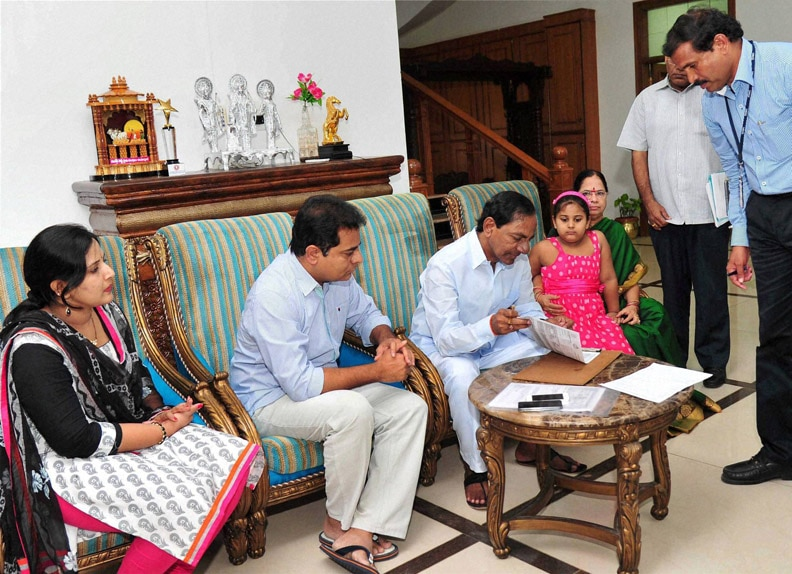 Chief Minister, K. Chandrashekar Rao, enumerated, Telangana, household, survey, underway