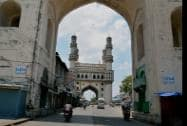 Roads wear deserted look in the old city of Hyderabad