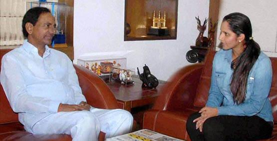 Telangana, Chief Minister, K Chandra Shekar Rao, Tennis star, Sania Mirza, meeting, Hyderabad