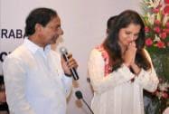 Telangana Chief Minister K.Chandrashekhar Rao at the function of appointment of Sania Mirza as Telangana's Brand Ambassador