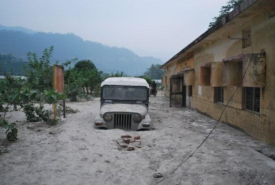 Ganga, Floods, Landslide