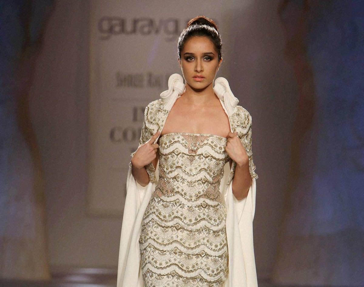 Actress, Shraddha Kapoor, walks,Gaurav Gupta, India, Couture Week 2014, New Delhi