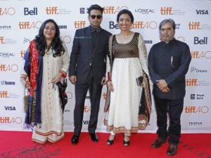 Meghna Gulzar, Irrfan Khan, Priti Shahani and Vishal Bhardwaj
