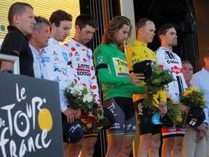 podium Tour de France cycling race