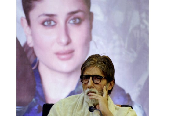 Bollywood actor Amitabh Bachchan addressing a press conference of his upcoming film 'Satyagraha'