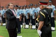 U.S. Defence Secretary receives Guard of Honour at South Block