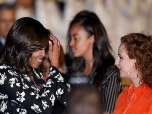 Morocco's King Mohammed VI wife Lalla Selma,  welcomes U.S. First Lady Michelle Obama