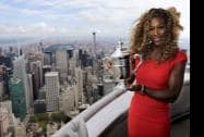 Serena Williams holds the U.S. Open tennis women's singles championship trophy