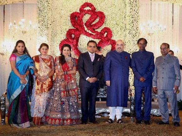 BJP President,  Amit Shah, Jay, Rishita,  Telangana Chief Minister, K Chandrashekhar Rao, Jagdish Mukhi