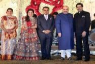 Kumar Mangalam Birla at the wedding reception of BJP President Amit Shah's son Jay and Rishita