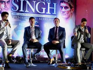 announcement of WBO Asia Pacific Super Middleweight Championship fight to be held in Delhi on 16 July