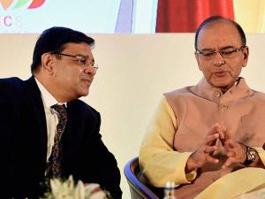 rbi governor urjit patel and union finance minister arun jaitley