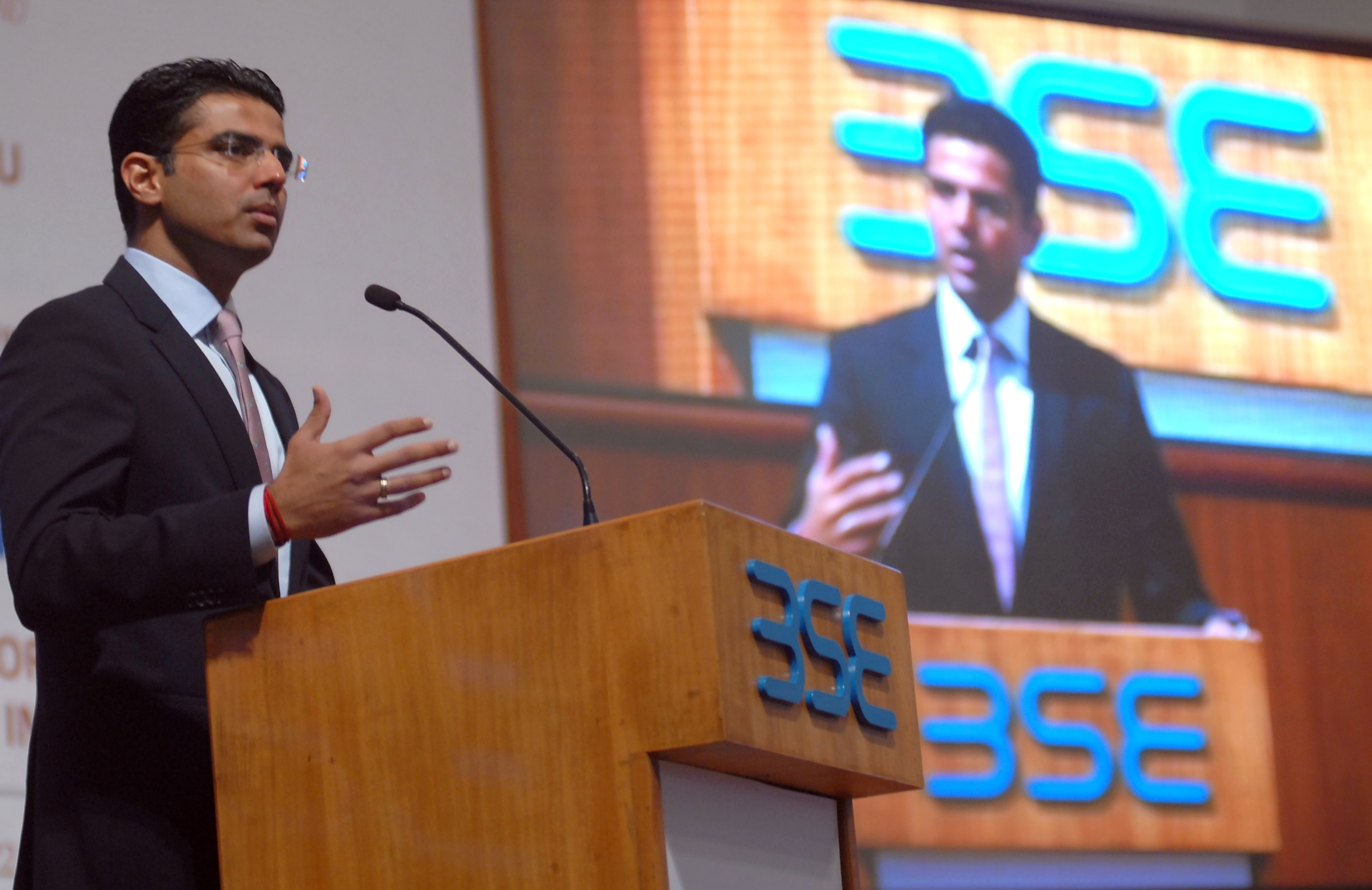 Sachin Pilot, Minister of Corporate Affairs speaks at a discussion on Companies Bill 2012
