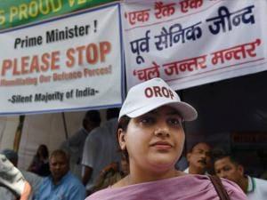 VK Singh's daughter joins OROP protest at Jantar Mantar