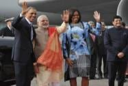 PM Modi with US President and First Lady