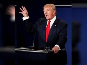 Donald Trump debates during the third presidential debate
