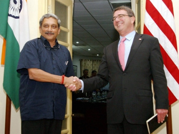 Defence Minister of India, Manohar Parrikar, US Secretary of Defence, Ashton Carter, New Delhi