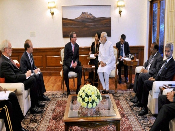 Prime Minister of India, Narendra Modi, Sushma Swaraj, Manohar Parrikar, US Secretary of Defence, Ashton Carter, New Delhi