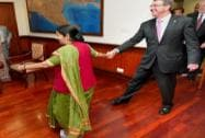 US Secretary of Defence meets Sushma Swaraj