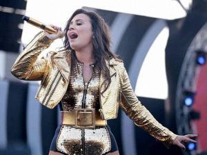Demi Lovato at Global Citizen Festival in Mumbai