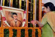 Sushma Swaraj pays tributes to Swatantryaveer Vinayak Damodar Savarkar