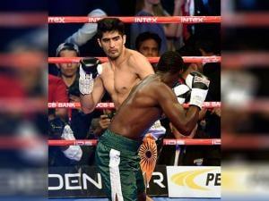 Vijender Singh fights with Francis Cheka  of Tanzania