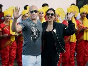Vin Diesel and  Deepika Padukone at Mumbai airport for the promotion of their film 'XXX Return of Xander Cage'