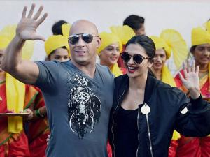 Vin Diesel and  Deepika Padukone at Mumbai airport for the promotion of their film 'XXX Return of Xander Cage' in Mumbai