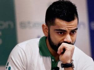 Cricketer Virat Kohli at the launch of Stepathlon Kids