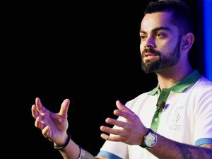 Virat Kohli speaks at the launch of Stepathlon Kids