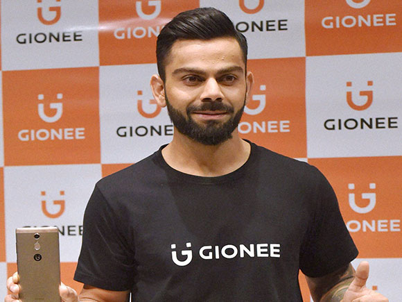 Gionee, Virat Kohli, brand ambassador