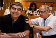 Murthy, Sikka at a press conference