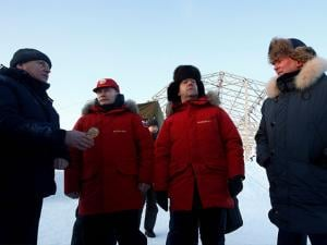 Vladimir Putin and Dmitry Medvedev visit Franz Josef Land archipelago in the Arctic