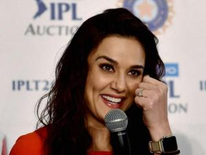 Preity Zinta at the IPL players auction press conference