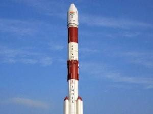 Indian Space Research Organisation's sixth navigation satellite IRNSS-1F, on-board PSLV-C32 before its launch from the spaceport of Sriharikota