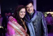 Bollywood actor Shatrughan Sinha with wife Poonam