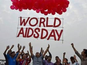 World AIDS Day at the bank of River Ganga in Kolkata