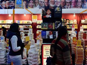 Readers explore books of various categories at the World book Fair in Pragati Maidan, New Delhi
