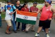 Indian fans at the St Peters College ground in Adelaide