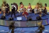 Colombian pop star Shakira Performing Ceremony in the World Cup final Soccer
