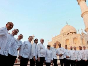 Members of Le Club des Chefs des Chefs (CCC) pose for a group photo