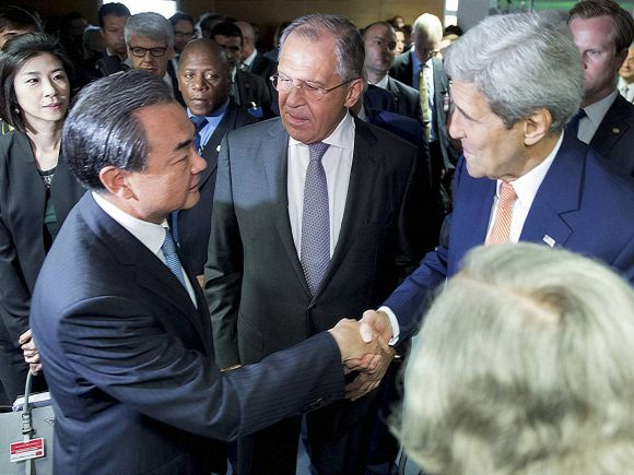 US Secretary of State, John Kerry, Foreign Minister of Chinese, Wang Yi, Vienna, Austria