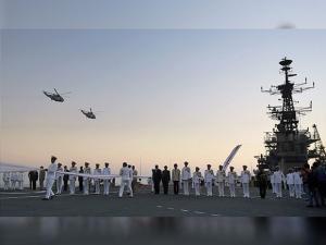 decommissioning ceremony of INS Viraat at naval dockyard in Mumbai