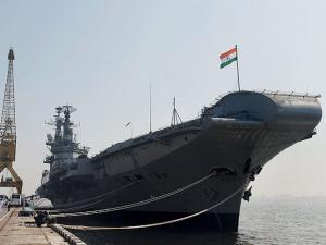 INS Viraat docked at the Naval Dockyard ahead of its decommissioning after 30 years of service