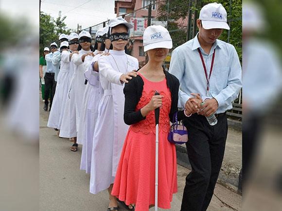 World Sight Day, Blind walk, eye care