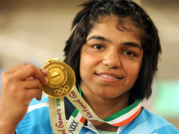 35th National Games 2015, Freestyle Wrestling, gold medal, Sakshi Malik, Ritu, Somveer, Jyoti